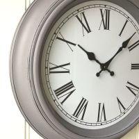 Shabby Chic Large French Grey Wall Clock  Amazing Grace ...