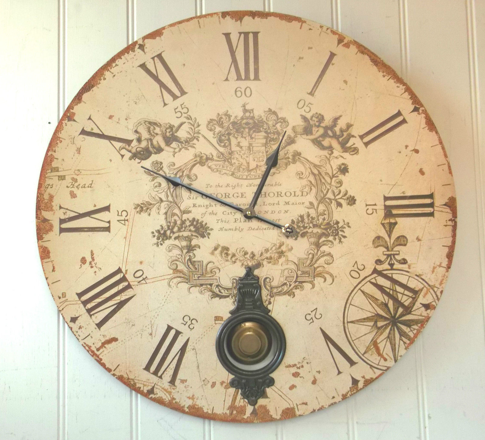 Statement Wall Clocks Extra Large Pendulum Wall Clock Amazing Grace Interiors