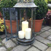 Extra Large Metal Garden Lantern Candle Holder Antique ...