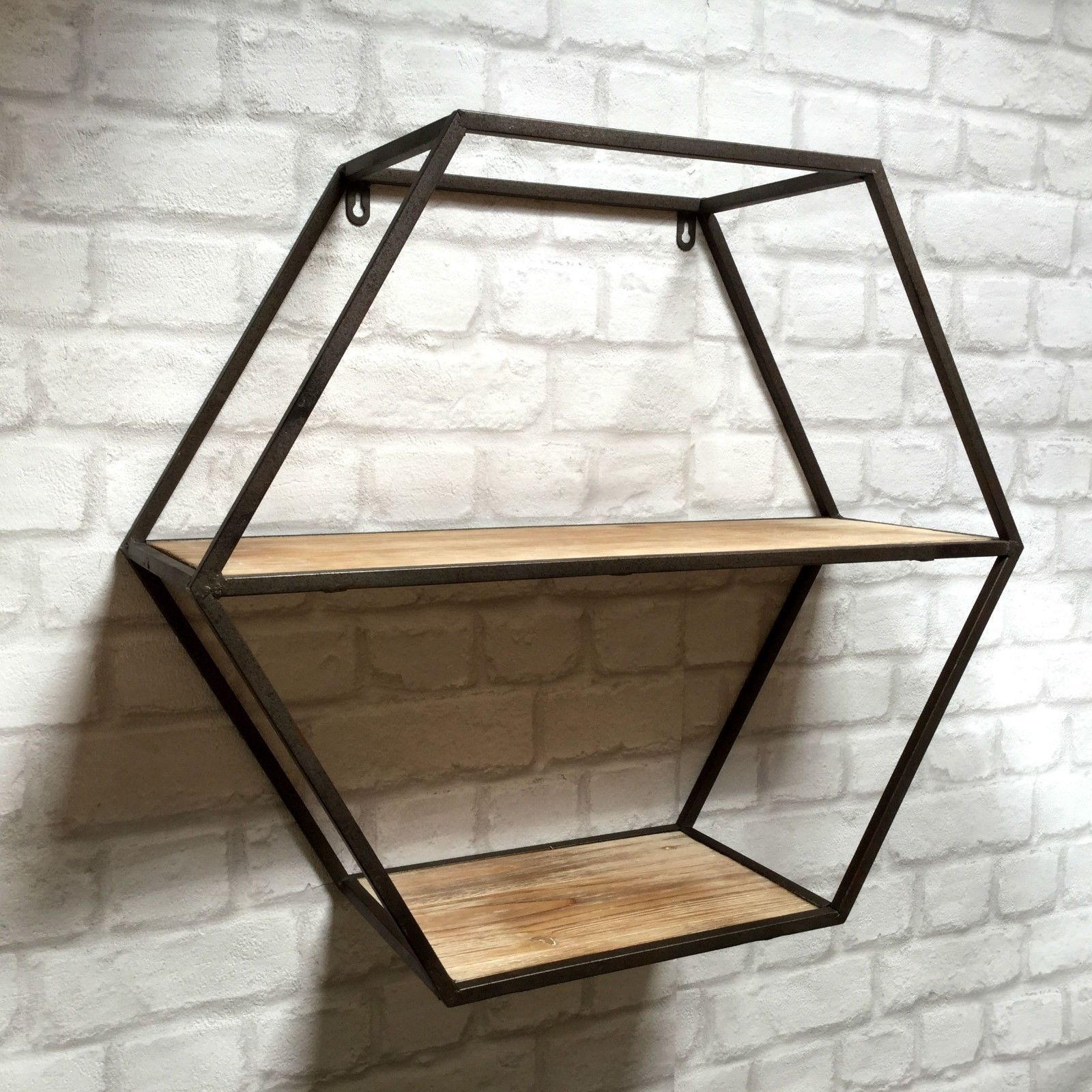 Industrial Wall Shelving Units Vintage Industrial Style Metal Wall Shelf Unit Storage