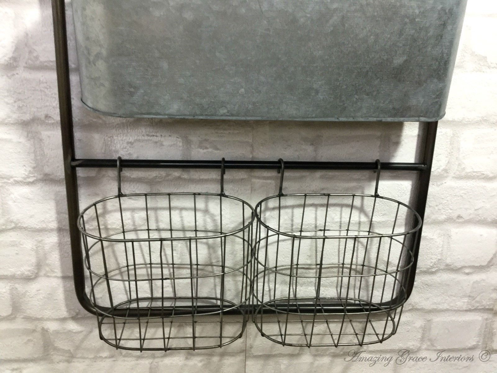 Industrial Wall Shelving Units Vintage Industrial Style Metal Wall Shelf Unit Rack Hooks