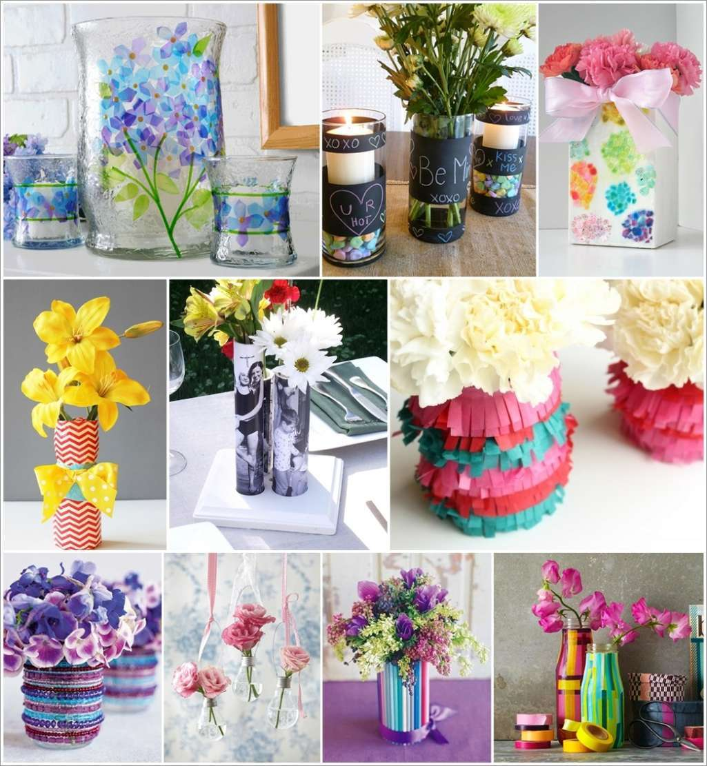 Flower Vase Ideas For Decorating 35 Creative Diy Flower Vase Ideas For Your Home