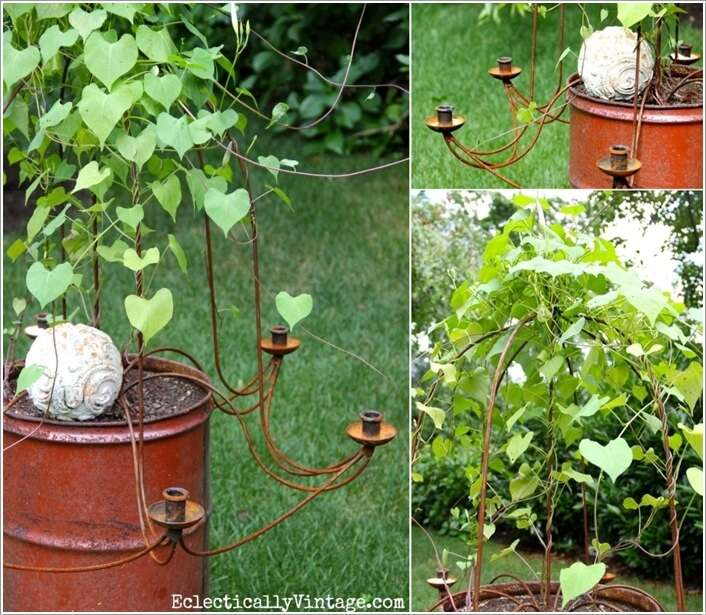 Wagon Wheel Chandelier 15 Unique Trellis Ideas For Your Home's Garden