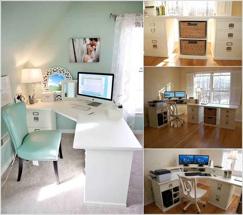 Ikea Expedit Office 10 Diy Home Office Desks For Your Inspiration