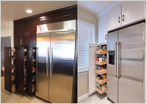 How To Build A Kitchen Pantry Cabinet How To Hack The Empty Space Around Your Fridge