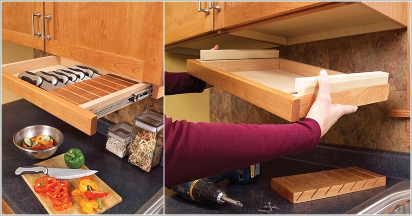 amazing interior design creative ways store kitchen knives knife openings creative kitchen supplies stainless steel kitchen knife