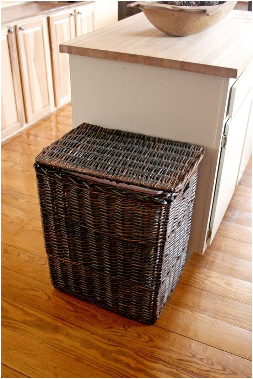Kitchen Island Out Of Dresser 10 Clever Ways To Hide A Trash Can