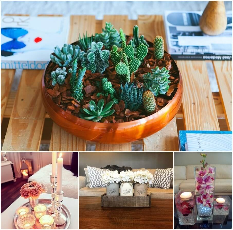 Unique Coffee Table Decor 10 Creative Diy Coffee Table Centerpiece Ideas