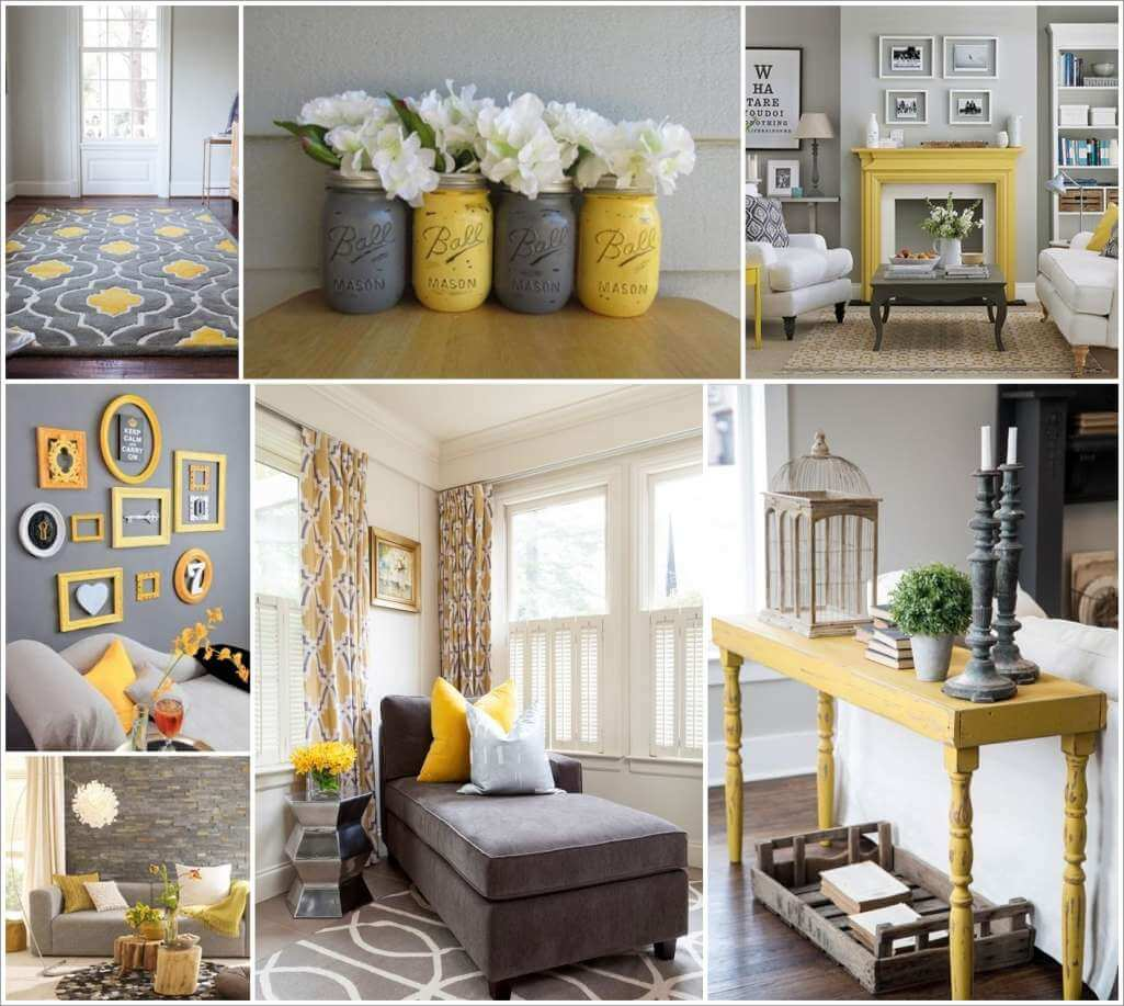 Yellow And Gray Living Room Amazing Interior Design
