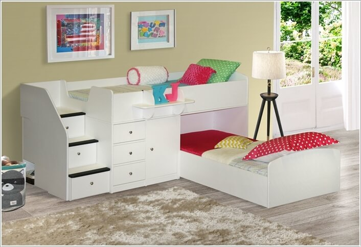 Loft Bed With Desk Underneath 10 Wonderful L Shaped Bunk Bed Designs