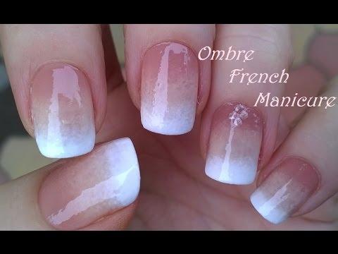 Ombre French Manicure Design Pure Sponge Nail Art