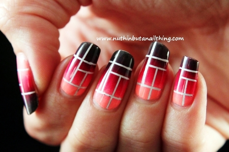 Stripping Tape Gradient Nail Tutorial Amazingnailartorg