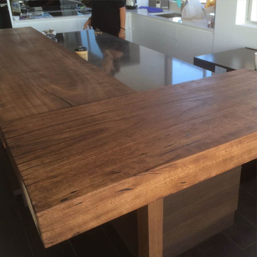 Wooden Benchtop Kitchen Timber Slab Kitchen Benchtops Kitchen
