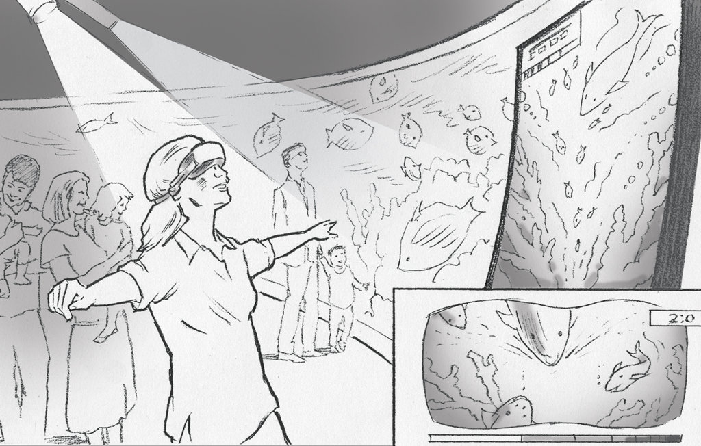 Concept visual for virtual reality activity - \u0027sea turtles\u0027 Sally