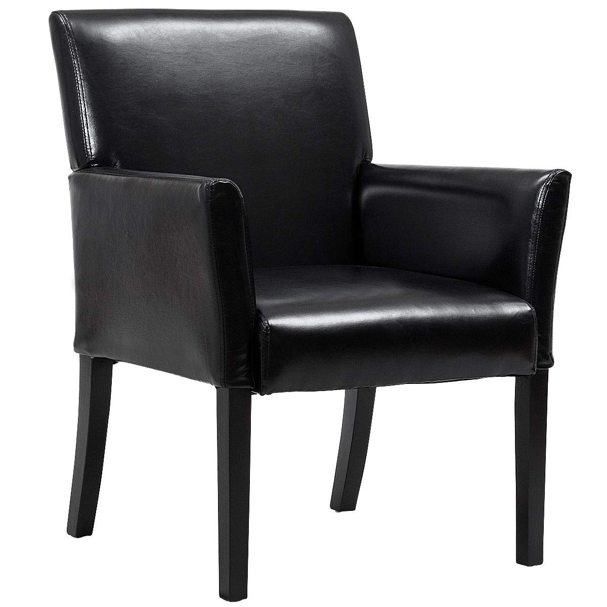 Giantex Leather Reception Guest Chairs W Padded Seat And Arms Ergonomic Mid Back Office Executive Side Chair For Meeting Waiting Room Conference Office Guest Chairs Black Buy Online In Bahamas At Bahamas Desertcart Com Productid 59088395