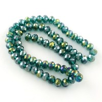 10 Strands Glass Beads Strands AB Color Plated Crystal ...