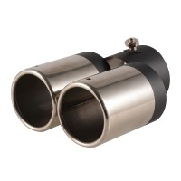 Double Tailpipe Exhaust Muffler Tail Pipe Tip Inside ...
