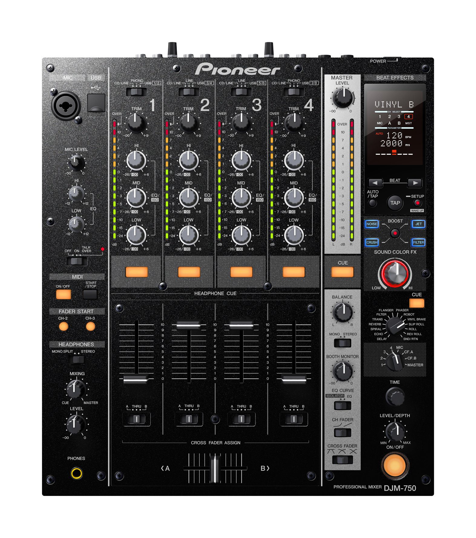 Mesa De Mezclas Amazon Test Pioneer Djm 750 Dj Club Mixer Amazona De