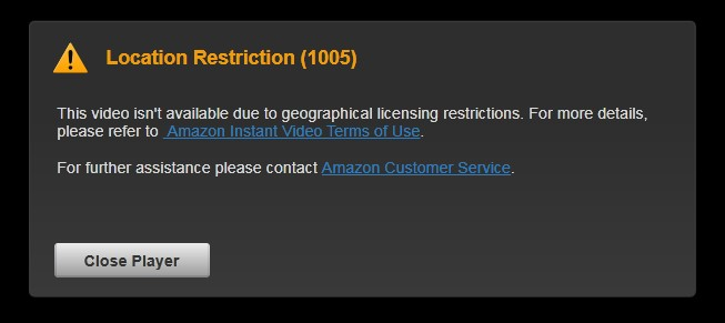Location restriction (1005)