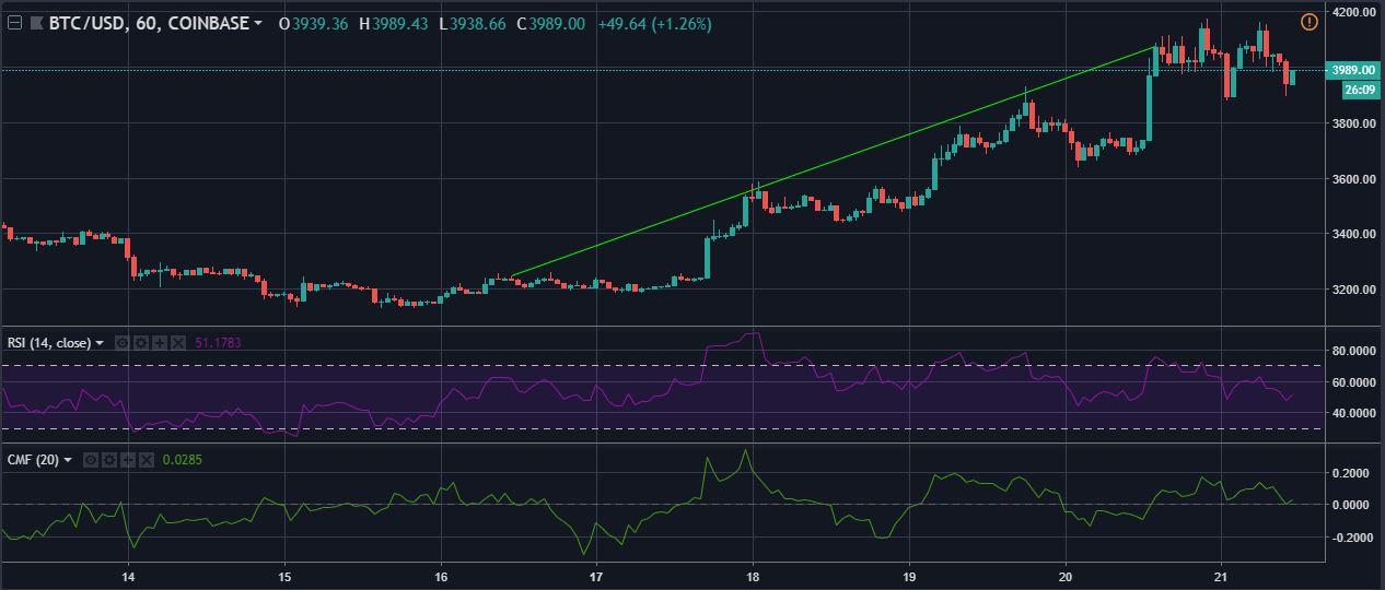 Bitcoin BTC/USD Technical Analysis Cryptocurrency braves the bear