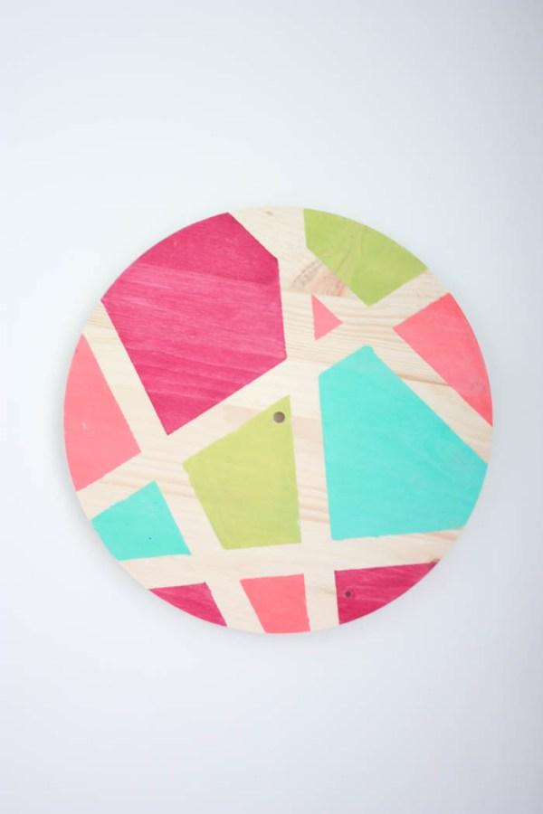 diy clock tutorial - DIY Abstract Clock