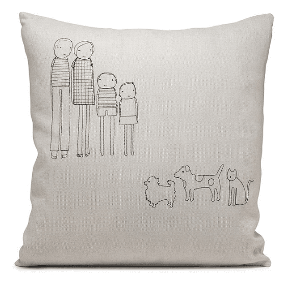 personalized-family-pillow // custom pillow ideas