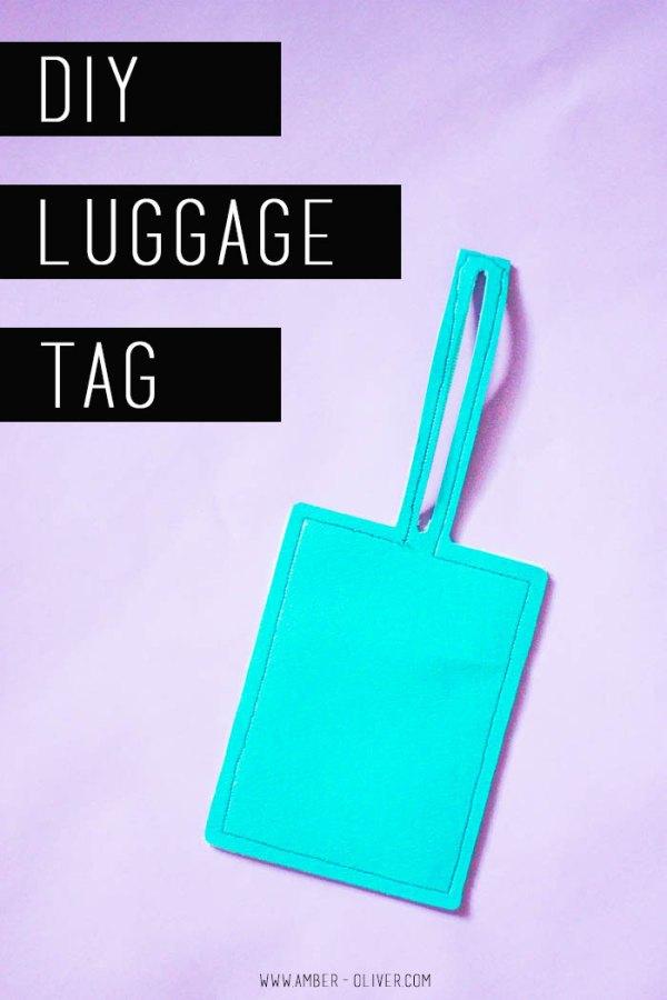 DIY Luggage Tag - make your own luggage tag!