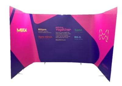 ISOframe Ripple portable exhibition stand