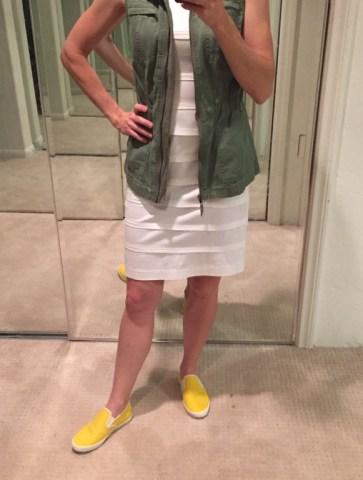 Stitch Fix yellow slip-on sneakers