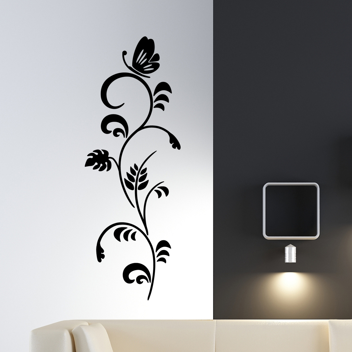 Décoration Murale Branches Sticker Mural Branche And Papillon Stickers Fleurs