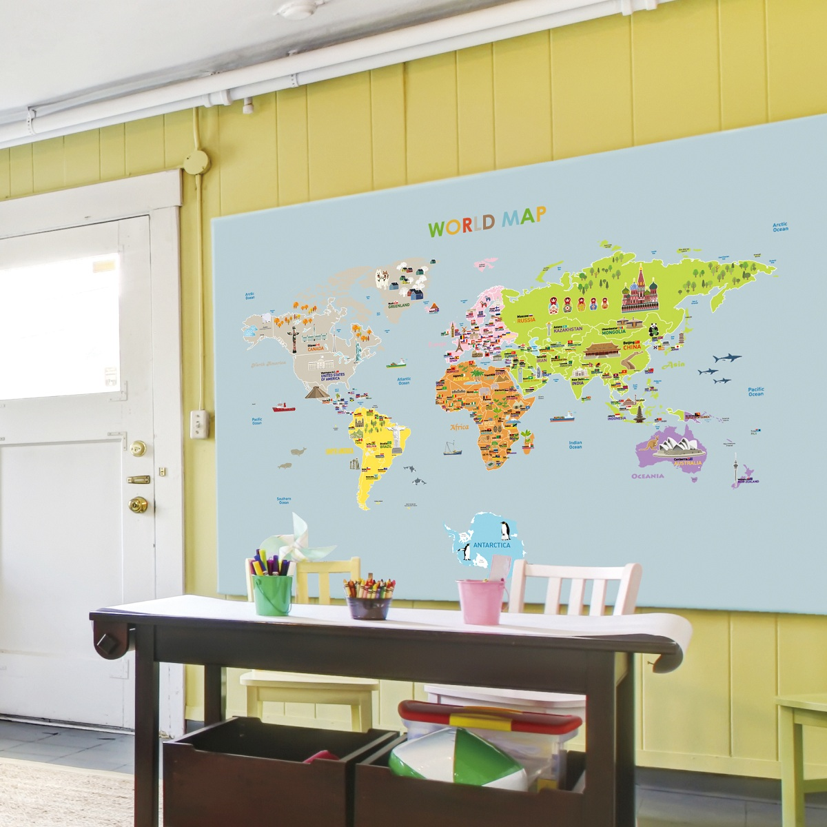 Poster Carte Du Monde Ikea Sticker Map Monde Ikea Satu Sticker