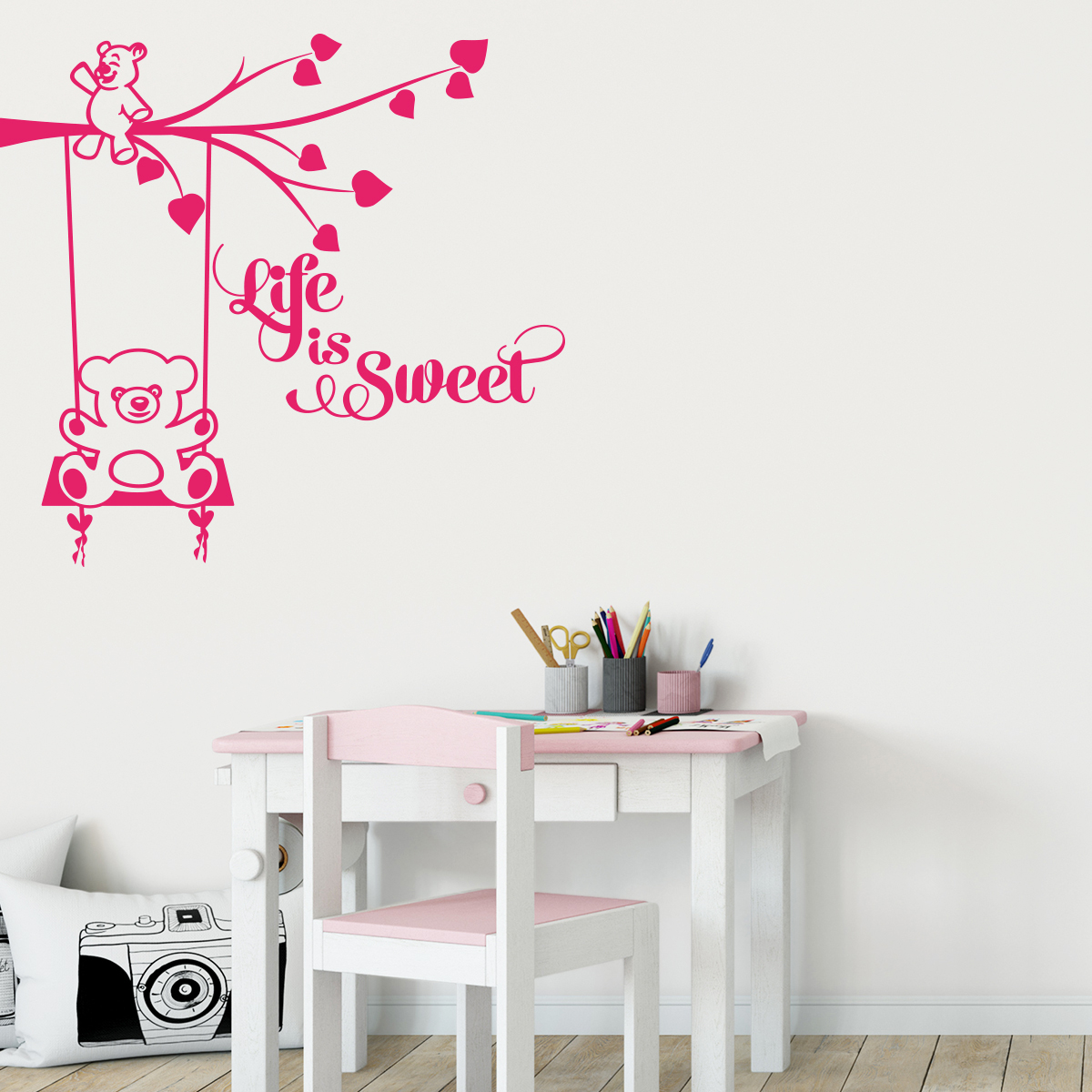 Stickers Chambre Enfants Sticker Chambre Enfant Citation Life Is Sweet Stickers