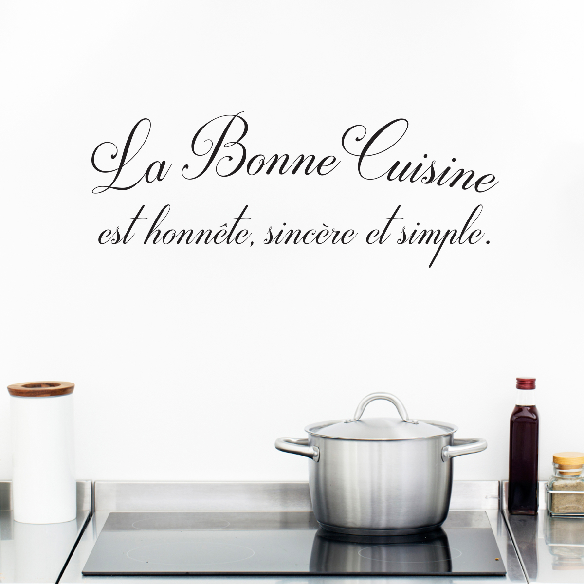 Decoration Murale Citation Sticker Citation Cuisine La Bonne Cuisine Stickers