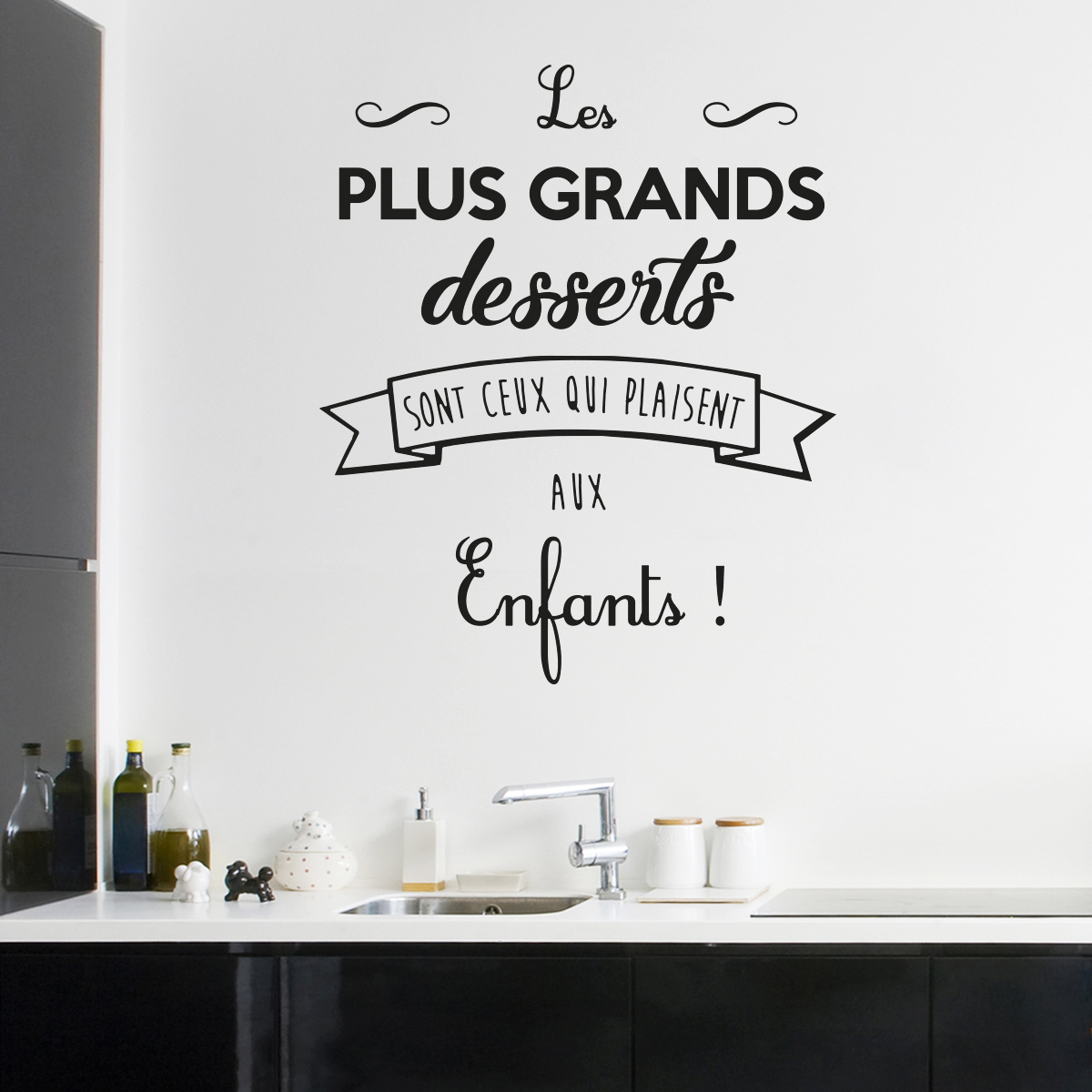 Autocollant Sol Sticker Citation Cuisine Les Plus Grands Desserts