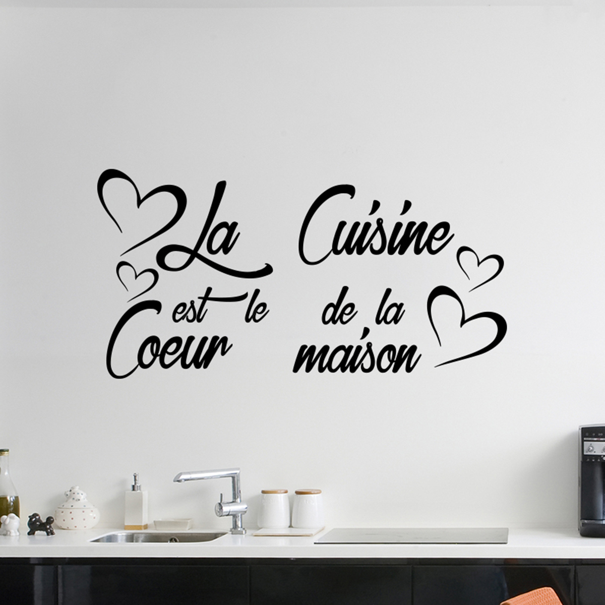 Decoration Murale Citation Sticker Citation La Cuisine Est Le Coeur De La Maison