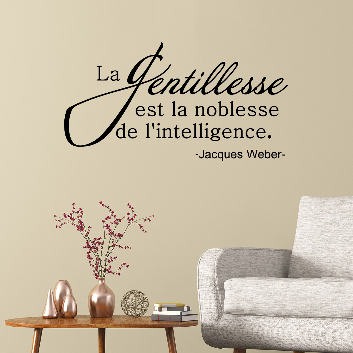 Papier Adhesif Deco Sticker Citation La Gentillesse Est La Noblesse – Stickers