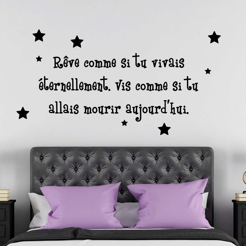 Stickers Pour Chambre Adulte Stickers Citation Chambre Sticker Mural Original Zalinka Pour