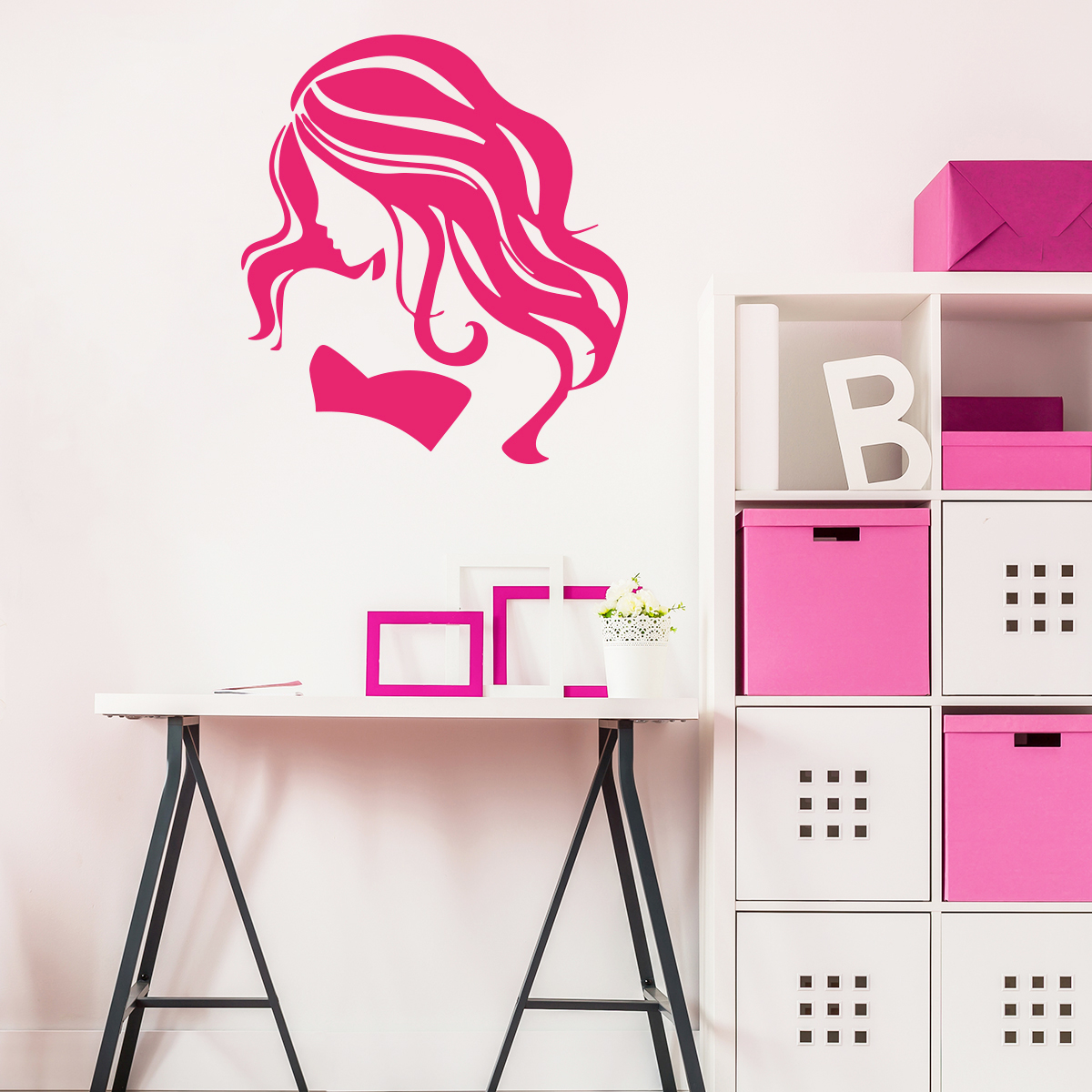 Stickers Chambre Ado Fille Sticker Coiffure De Star