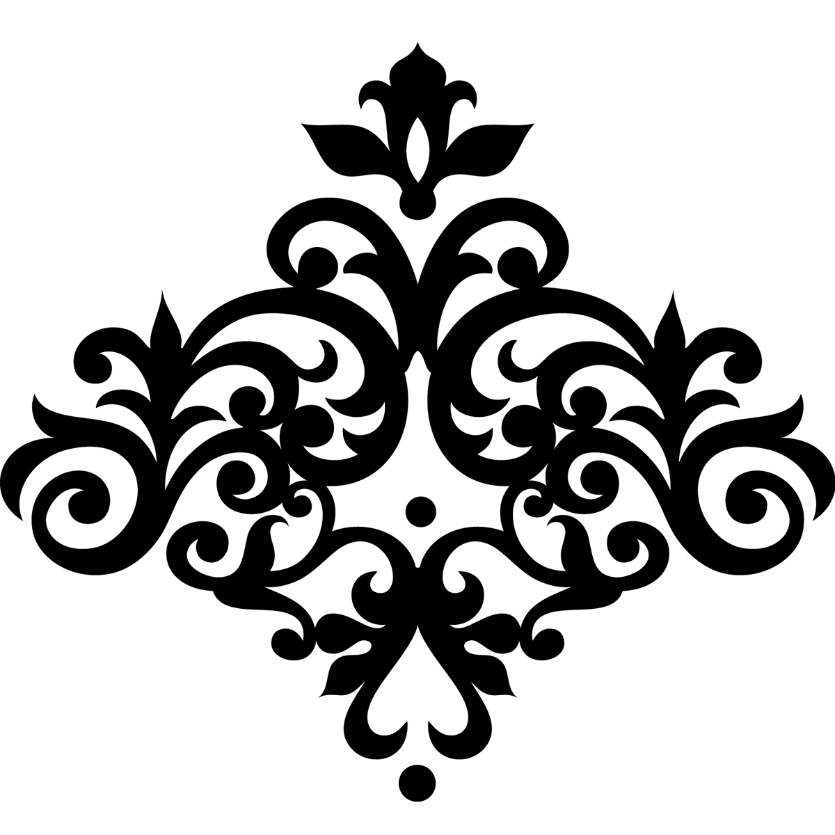 Decoration Murale Baroque Stickers Muraux Design Sticker Mural Fleur Baroque