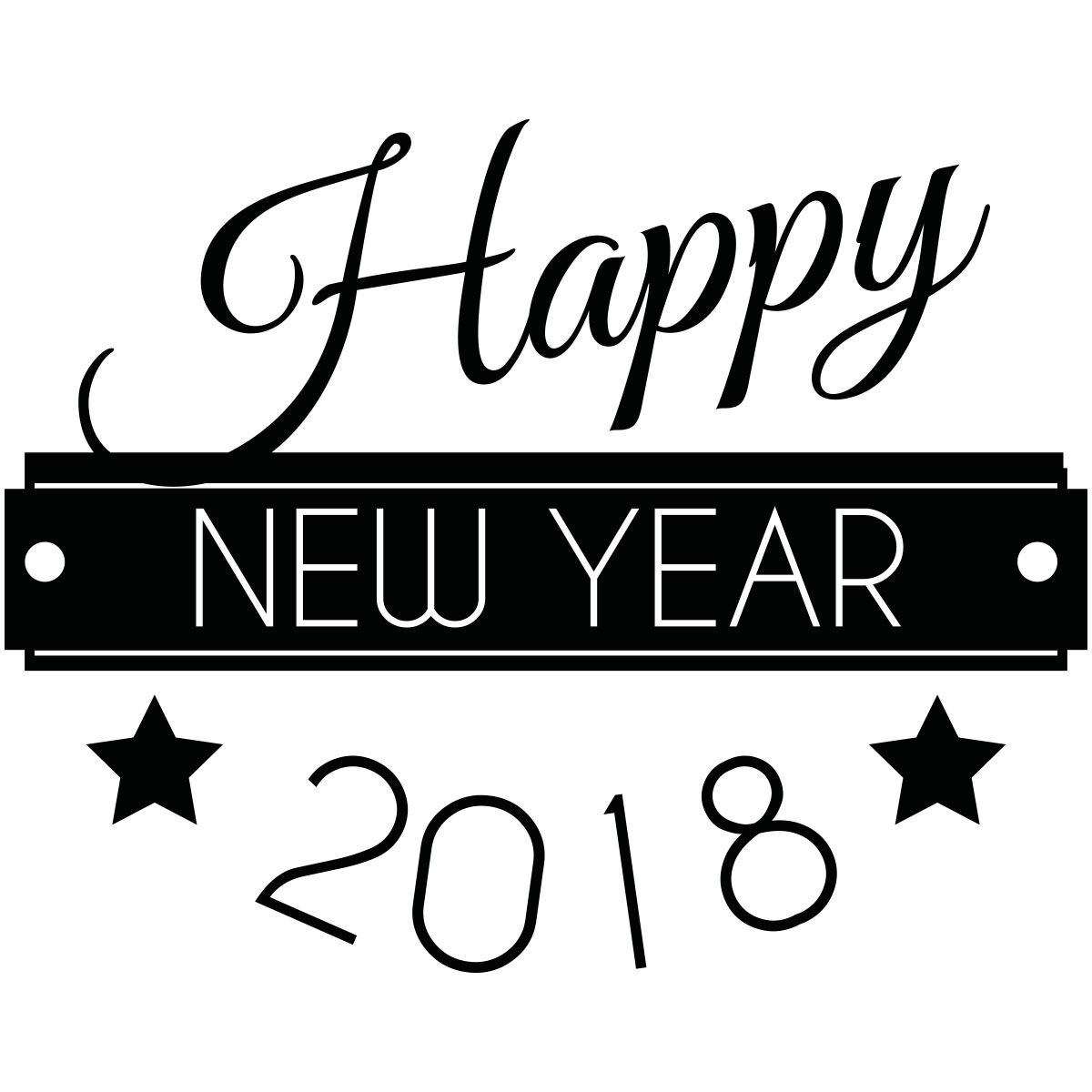 Magasin Stickers Sticker Happy New Year 2018 – Stickers Professionnels