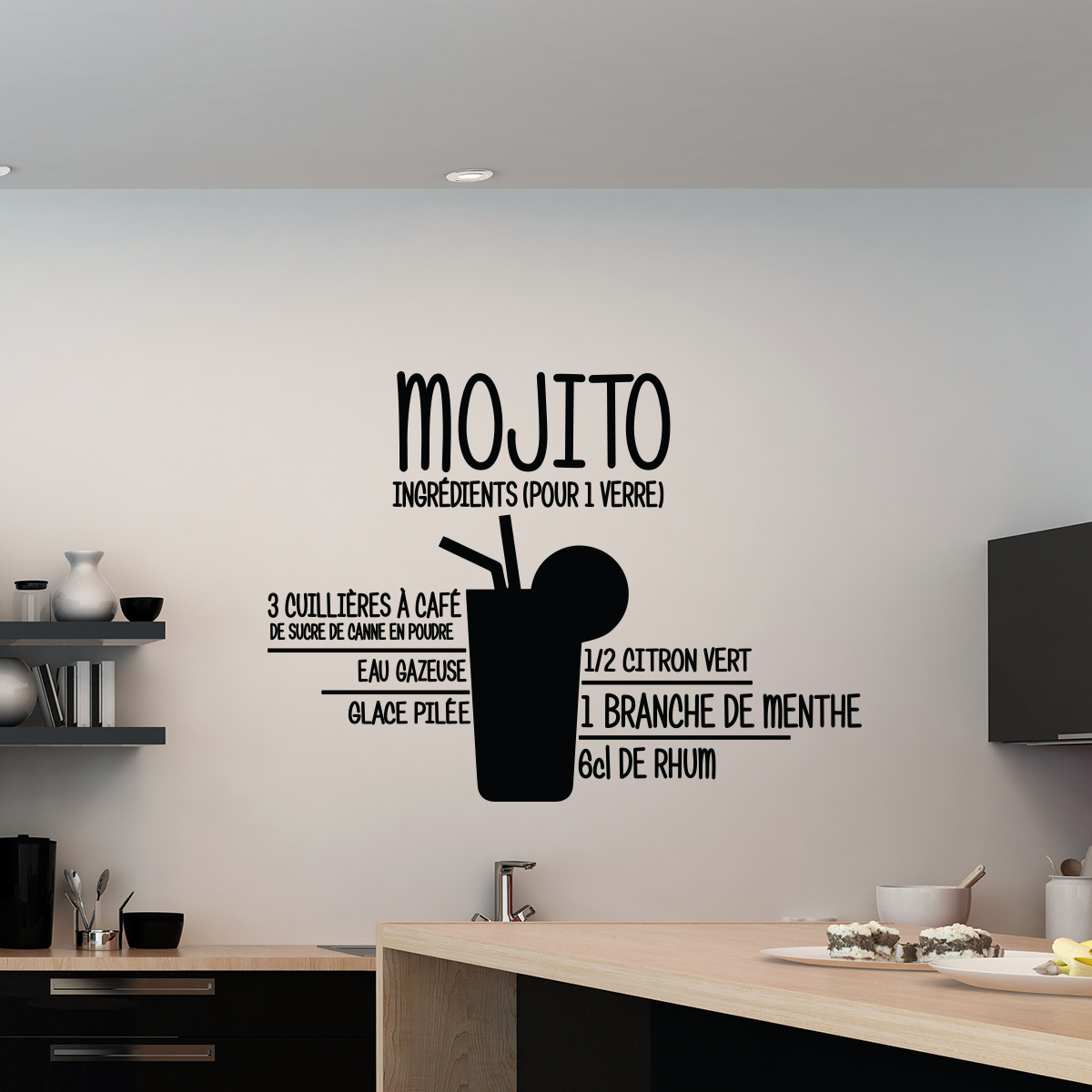 Meubles Deco Sticker Mojito - Stickers Cuisine | Ambiance-sticker.com
