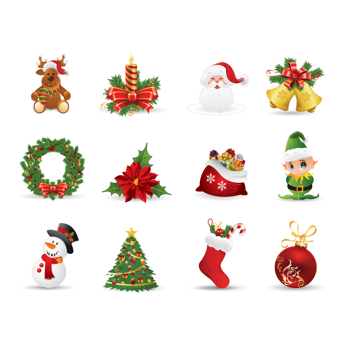 Image Decoration Noel Sticker Noël Décorations De Noël – Stickers Stickers FÊtes
