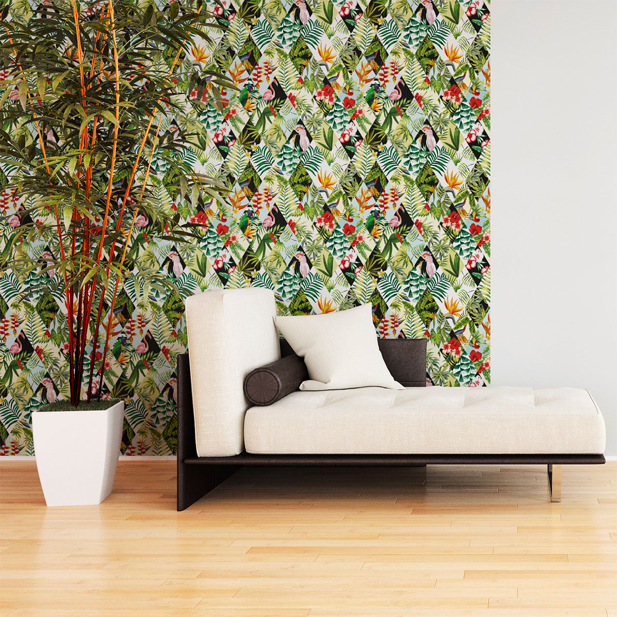 Appartement 3d Sticker Papier Peint Tropical Jungle – Stickers Nature