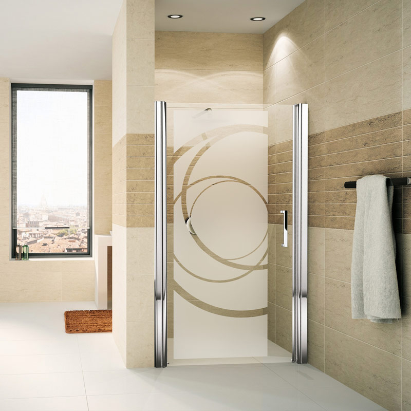 Porte De Placard Sticker Porte De Douche Courbes Design – Stickers Art Et