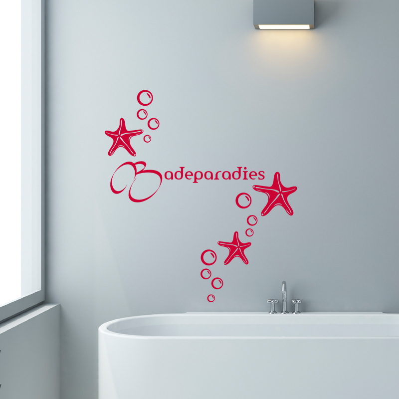 Papier Adhesif Deco Sticker Salle De Bain Citation Badeparadies – Stickers