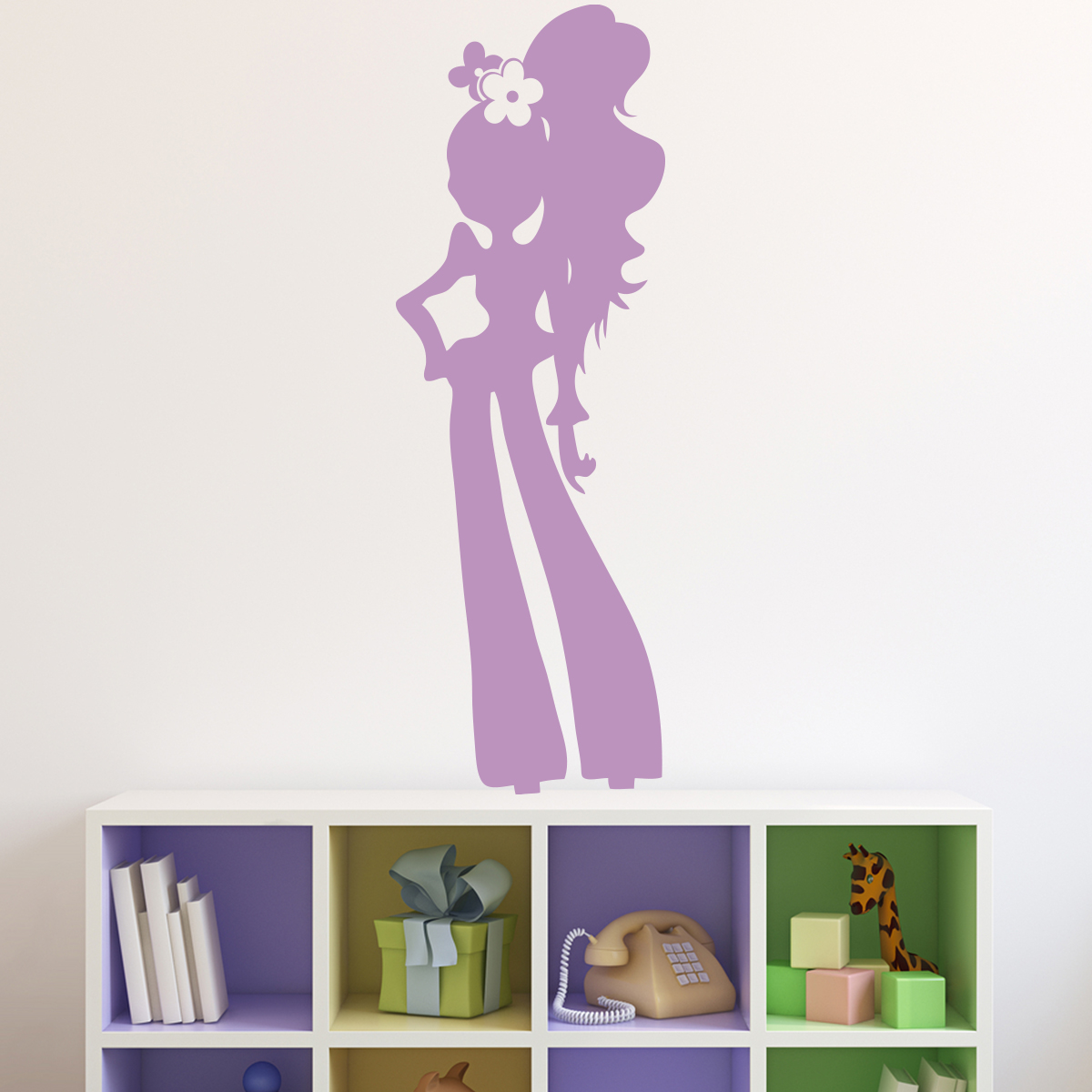 Stickers Fille Chambre Sticker Silhouette Fille Glamour Stickers Chambre Ado