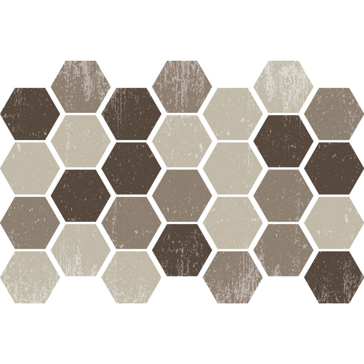 Carreaux De Ciment Hexagonal Stickers Carreaux De Ciment Hexagones Shades Of Brown