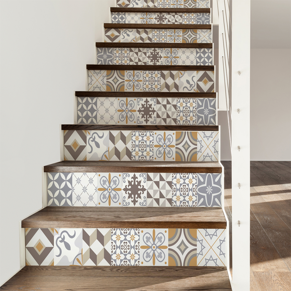 Carrelage Escalier Stickers Escalier Carrelages Ornements Sobres X 2 Ambiance
