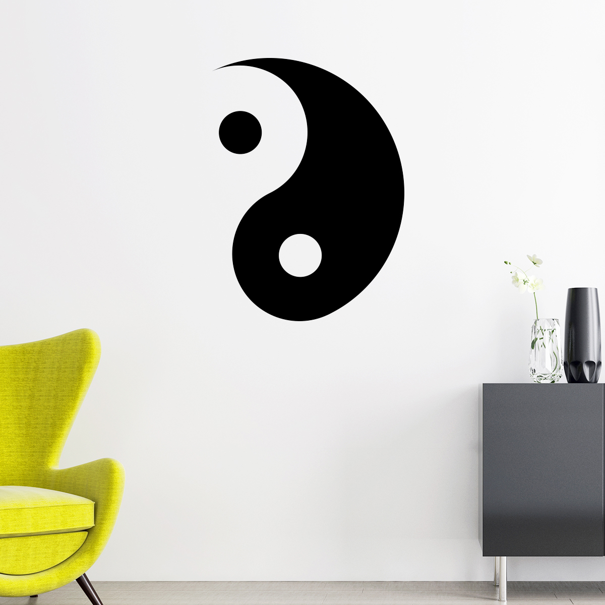 Cuisine Pinterest Ying Yang - Stickers Deco Design