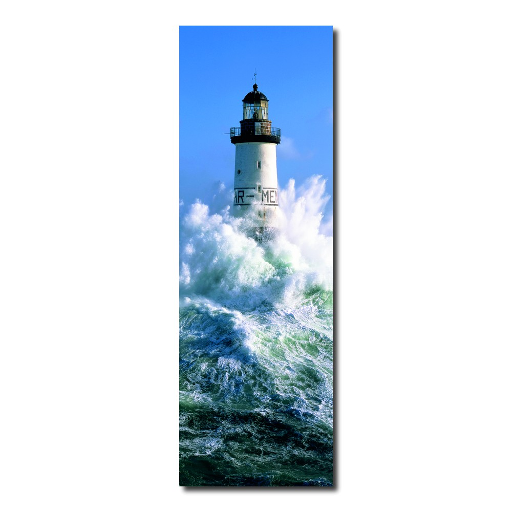 Tableau Moderne Vertical Photo Sur Toile Phare D Ar Men